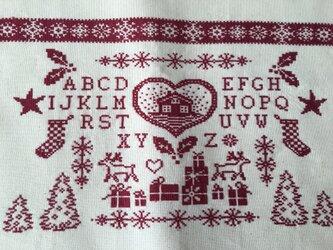 I様オーダー分クロスステッチマット(アルファベット&クリスマス)の画像