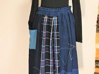 古布切り替えスカート 200921の画像