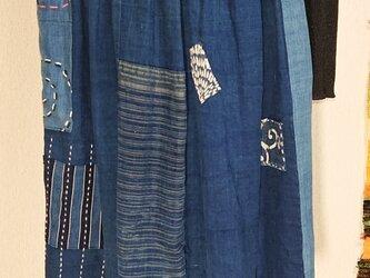 古布切り替えスカート 200920の画像