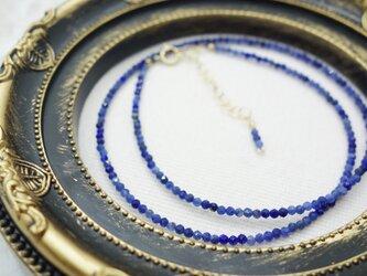 ソーダライトのネックレスの画像