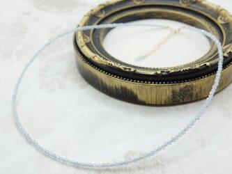 アクアマリンのネックレスの画像