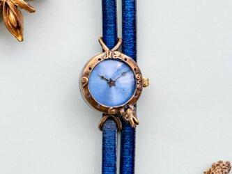 一番星見つけた子ウサギ腕時計SSパステルブルーの画像