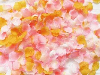 フラワーシャワー 造花 ウェディング 結婚式 1000枚 幸せピーチ フラワーペタル ブライダル 花びらの画像
