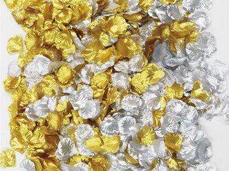フラワーシャワー 造花 結婚式 ゴールド&シルバー ラグジュアリー パーティー ウェディング 2次会 披露宴の画像