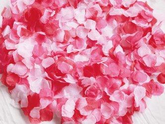 送料無料☆5色MIX フラワーシャワー1000枚 ローズレッド たっぷり フラワーペタル 造花 パーティー ウェディングの画像