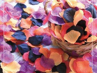 送料無料☆結婚式を華やかに!5色MIX フラワーシャワー1000枚 オータム たっぷりフラワーペタル 造花 パーティーの画像