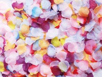 送料無料☆結婚式を華やかに!10色MIX セット フラワーシャワー1000枚 トロピカル たっぷりフラワーペタル 造花の画像