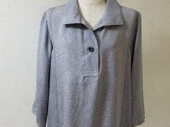 着物リメイク オブロングカラーチュニックの画像