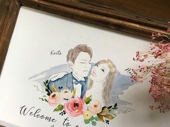 結婚式 ウェルカムボード額セット 水彩風シンプルの画像