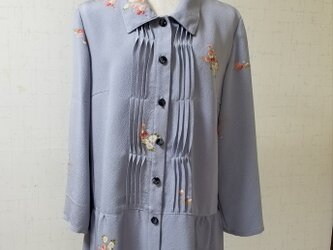 着物リメイク ペプラムピンタックチュニックの画像