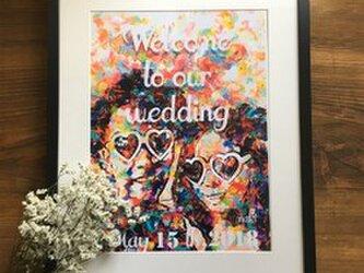 結婚式 ウェルカムボード台紙のみ パステルペイント風の画像