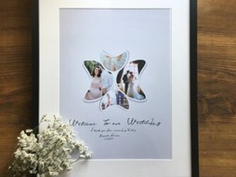 結婚式 ウェルカムボード台紙のみ フォトメモリーズの画像