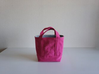 TOTE BAG -bicolor- (S) / pink × pearlgrayの画像