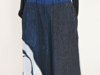 紋付き古布パンツ 200926の画像