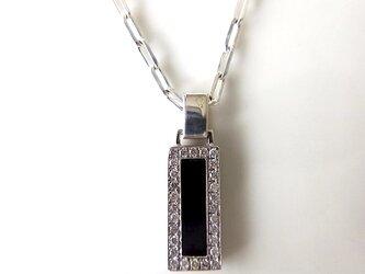 SV925 Diamond Hematite Pendantの画像