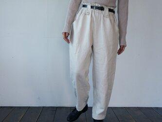 atelier pants[フランネルリネン][ivory]の画像
