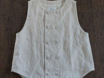 atelier vest[フランネルリネン][ivory]の画像