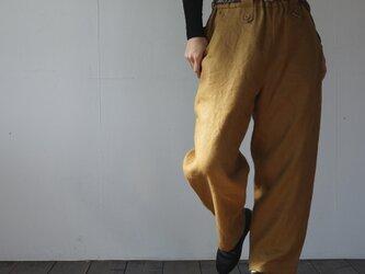atelier pants[フランネルリネン][mustard]の画像