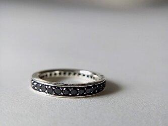 SV925 Black Dia Eternity Ringの画像