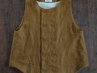 atelier vest[フランネルリネン][mustard]の画像