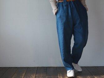 atelier pants[フランネルリネン][antique blue]の画像