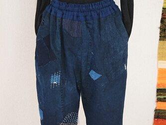 BORO紋付き古布パンツ 201022の画像