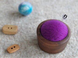 羊毛ピンクッション【針山】紫色の画像