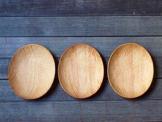 手彫り楕円プレート 小 ヒメコマツの画像