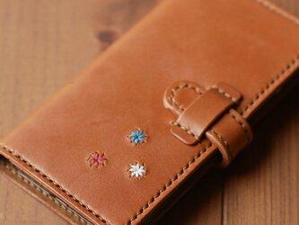 栃木レザーiPhoneケース(刺繍入り)の画像