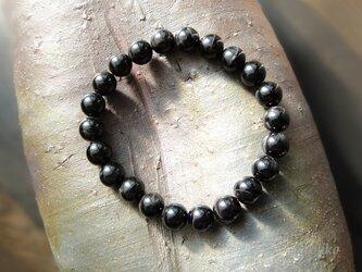 ブラックタイガーアイAAA シンプルなブレスレットです(約6mm 染色なし)の画像