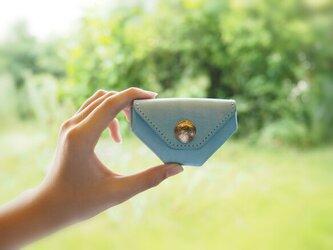 しあわせのコインケース (アイスランドブルー)イタリアンレザー MAINE 使用の画像