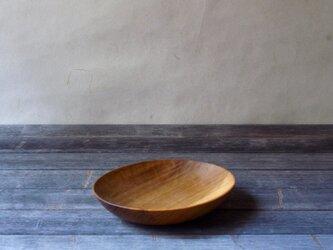 手彫り楕円プレート 小 ホオ・カバの画像