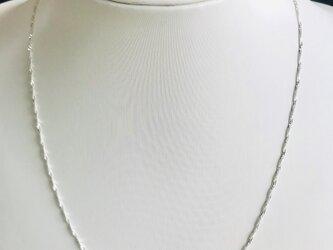 1.1ミリー45cm  使いやすい  シルバー925 純銀ネックレス 細い !の画像