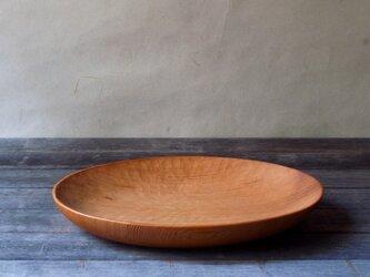 手彫り楕円プレート 大 ピーラー(米松)の画像
