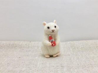 ネズミのクリスマス(サンタ)の画像