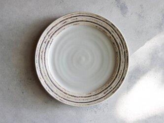 伊豆土リムストライプの九寸皿(白釉)の画像