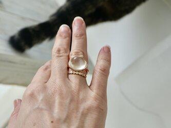 K10[月兎のmoon stone] ringの画像
