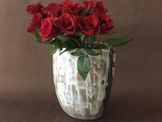 萩土+萩釉の花器の画像