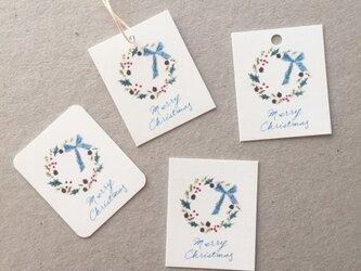 小さなリースのメッセージカード クリスマスカード タグ 40枚の画像