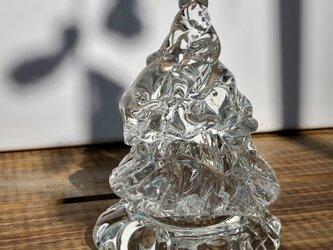 ガラスのクリスマスツリー ② /ツリー/テーブルツリー/クリスタルの画像