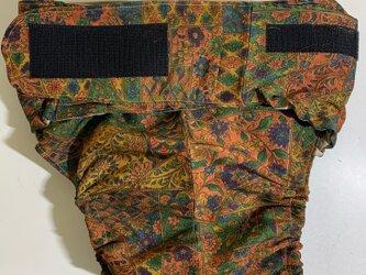 【現品1点限り】HAJIME AYUMU 高級花柄着物リメイク介護用オムツカバー FREEサイズの画像