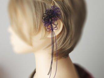 ヘアピン「華の粋、所以に」(黒×紫)の画像