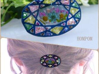 20h004 ステンドグラス風ポニーフック(暖色系)  ホムポムの画像