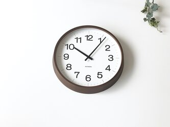 KATOMOKU muku clock 16 LL-size ブラウン km-116BRRC 電波時計 掛け時計 連続秒針の画像