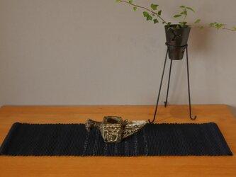 裂織    敷物 ランナー 草木染 藍   ☆送料無料【072】の画像