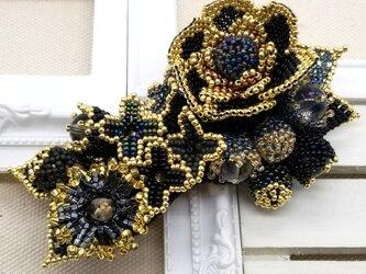 バレッタ Bouquet  (ブラックカメリア)の画像