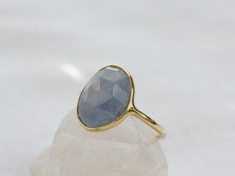 Rosecut Blue Sapphire Ring K10YG ローズカットブルーサファイヤのリングの画像
