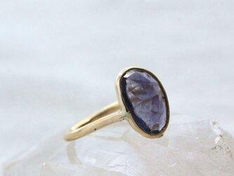 Rosecut Iolite Ring K10YG ローズカットアイオライトのリングの画像