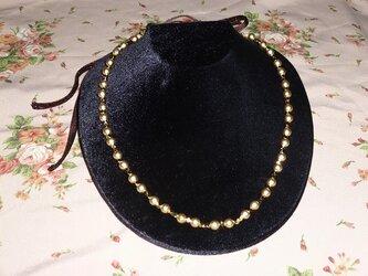 アトリエTINK オリジナル 金色ビーズネックレスの画像