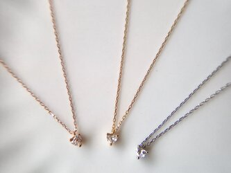 mili K18 Heart Shape Diamond Pendantの画像